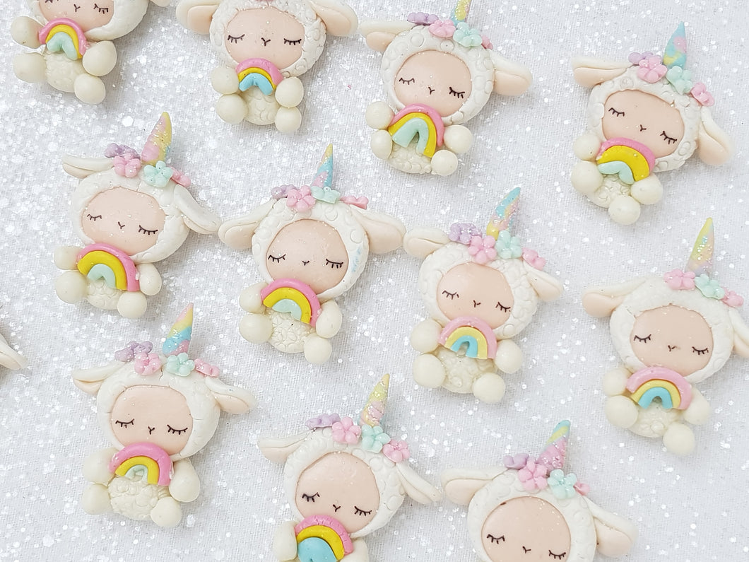 Clay Charm Embellishment - Sheep Unicorn - Crafty Mood