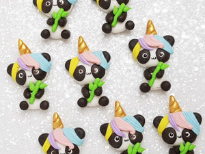 Clay Charm Embellishment - NEW Pandacorn - Crafty Mood