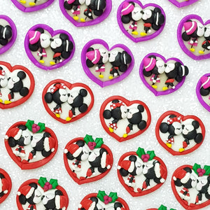 Kiss Mouse - Embellishment Clay Bow Centre - Crafty Mood