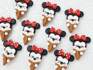 Clay Charm Embellishment - Mouse Ice Cream Delight - Crafty Mood