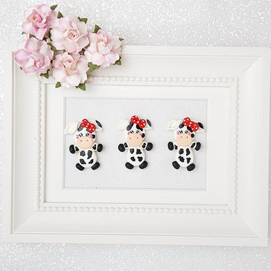 Clay Charm Embellishment - Cow Delight - Crafty Mood