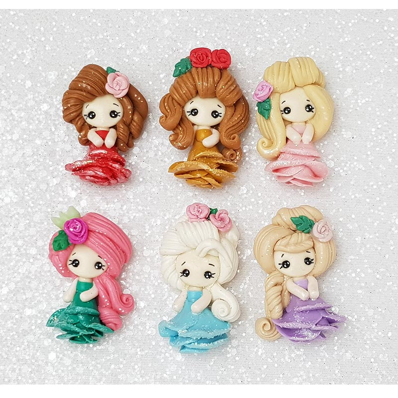 Sale Clay Charm Embellishment - Rose Princess