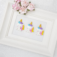 Load image into Gallery viewer, Clay Charm Embellishment - Sleepy Unicorn Delight - Crafty Mood