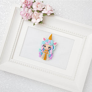 Clay Charm Embellishment - Unicorn Girl Limited - Crafty Mood