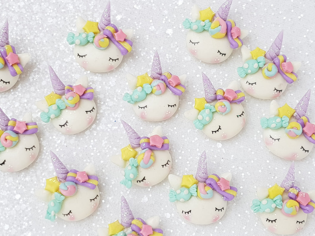 Clay Charm Embellishment - Candy Sleepy Unicorn - E - Crafty Mood