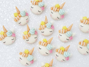 Clay Charm Embellishment - Candy Sleepy Unicorn - F - Crafty Mood