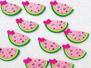 Clay Charm Embellishment - Watermelon Delight