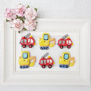Clay Charm Embellishment - Digger, Fire Truck - Crafty Mood