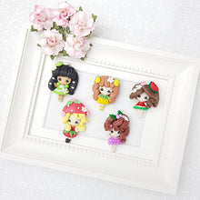 Load image into Gallery viewer, Clay Charm Embellishment - Fruit Girl - Crafty Mood