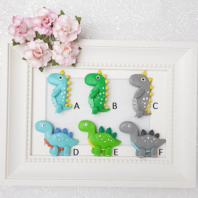 Clay Charm Embellishment - Dino - B - Crafty Mood
