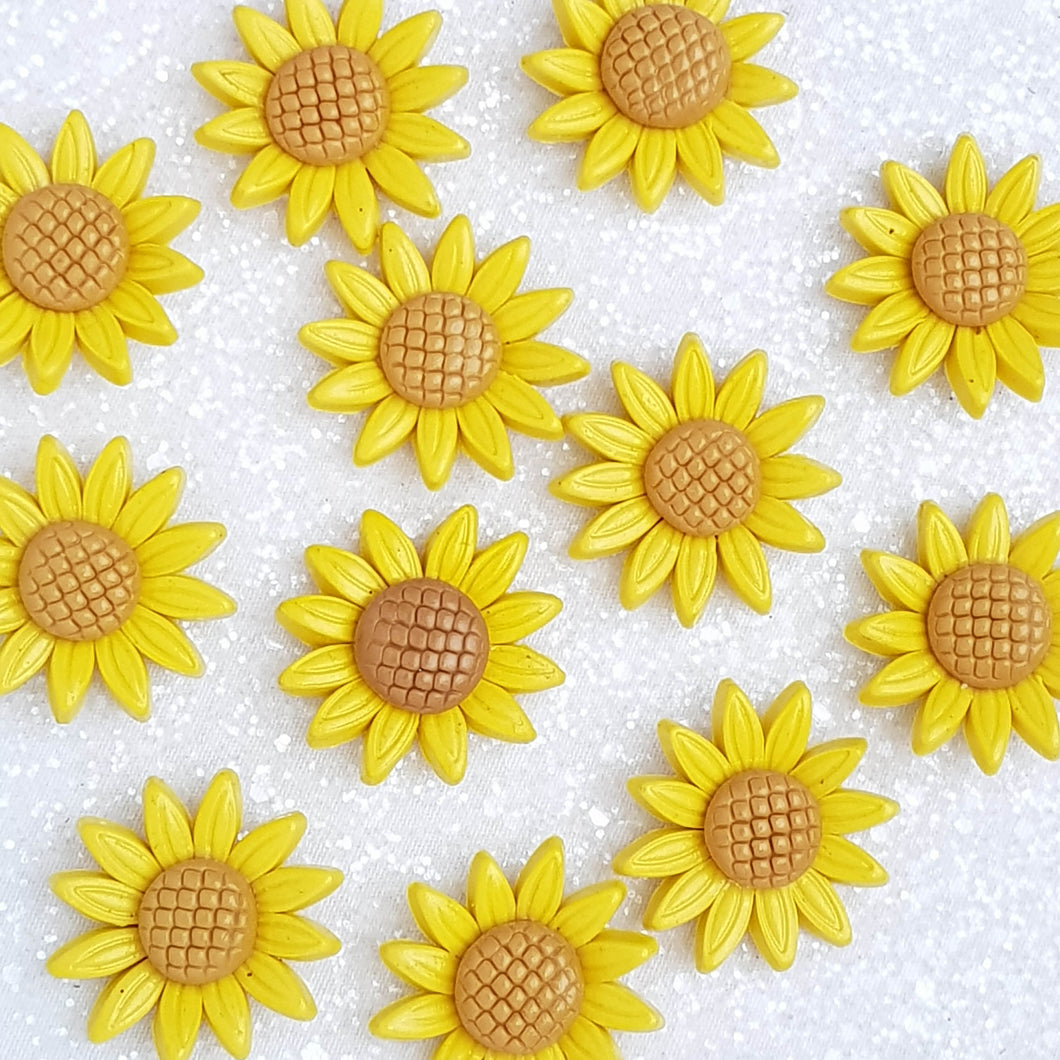 Clay Charm Embellishment - Sunflower - Crafty Mood