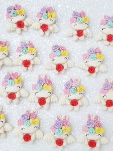 Clay Charm Embellishment - Bunny with Wings - Crafty Mood