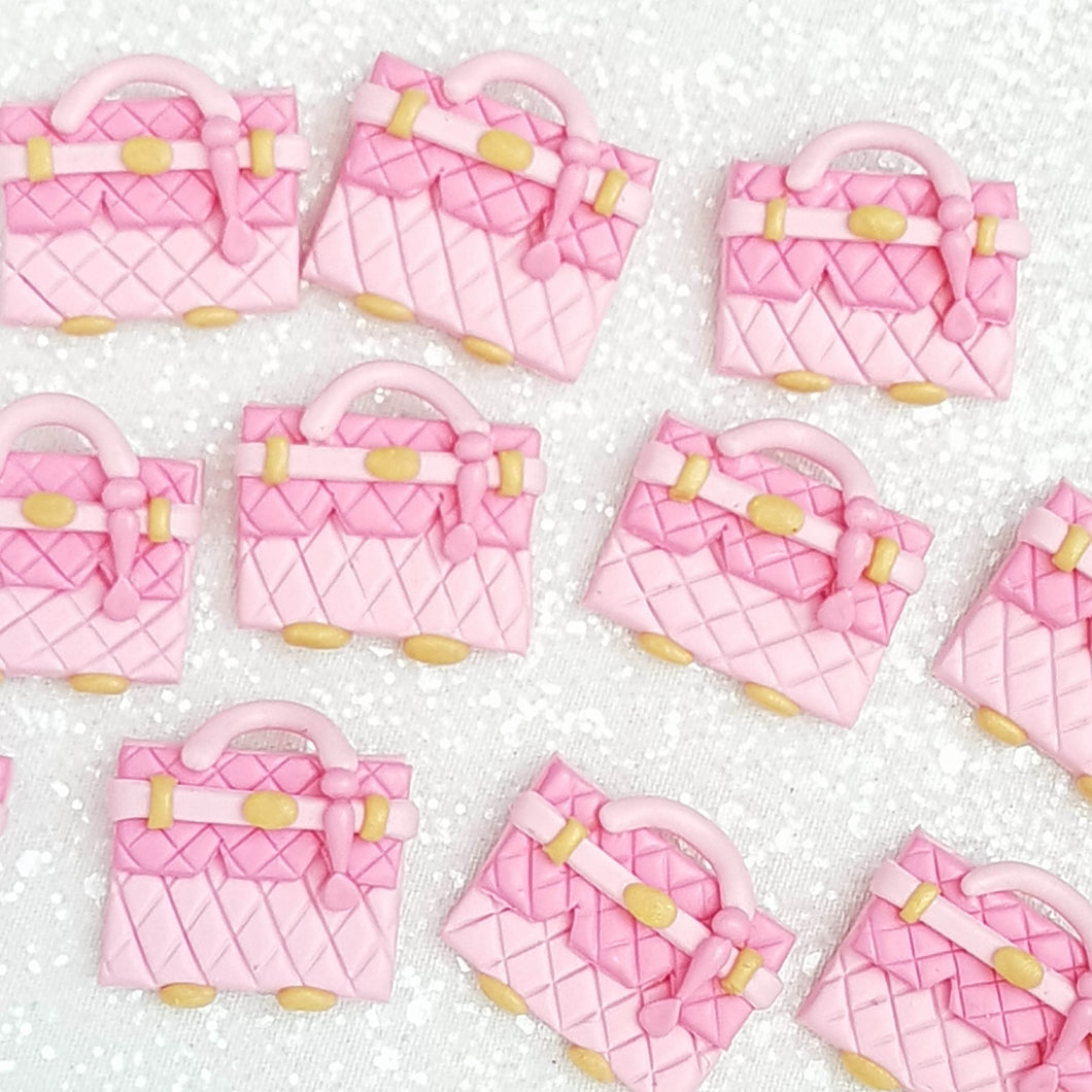 Clay Charm Embellishment - Pink Bag Delight - Crafty Mood