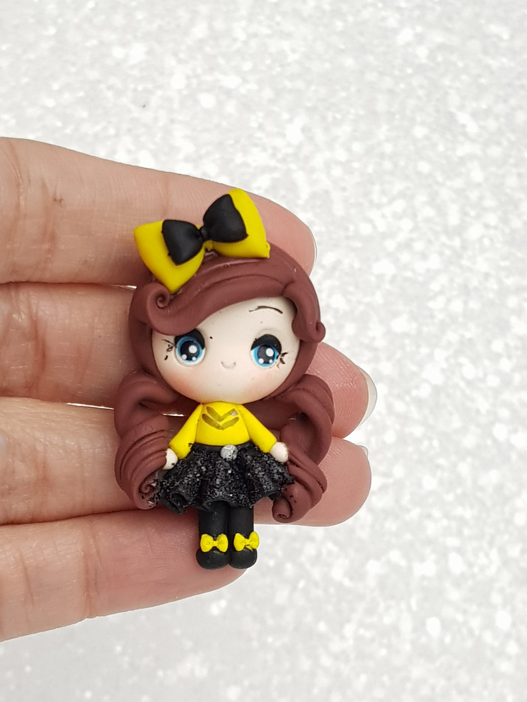 Handmade Clay Charm - New Big Eyes Bee Girl - Crafty Mood