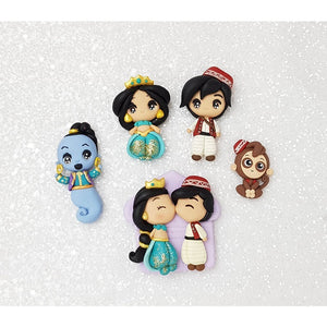 Clay Charm Embellishment - Arabian Story Big Eyes - Crafty Mood