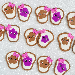 Clay Charm Embellishment - Bread Jam Delight - Crafty Mood