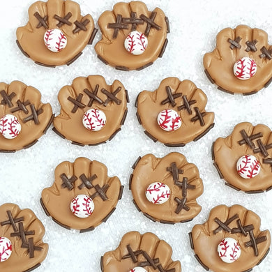 Clay Charm Embellishment - Baseball Glove Delight - Crafty Mood