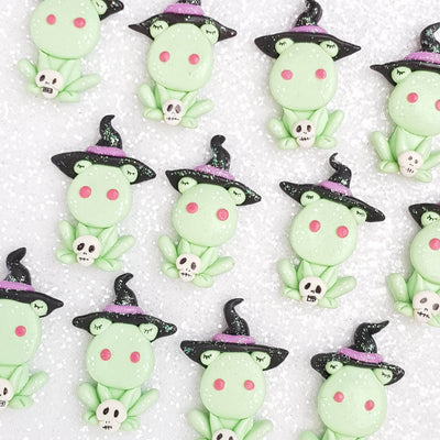 Clay Charm Embellishment - Frog Witch - Crafty Mood