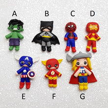 Load image into Gallery viewer, Sale Clay Charm Embellishment - NEW Superhero - Crafty Mood