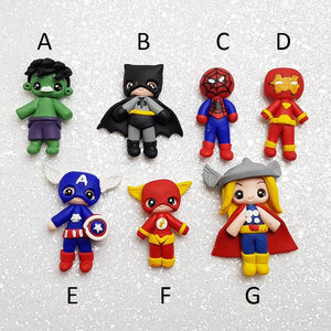 Sale Clay Charm Embellishment - NEW Superhero - Crafty Mood