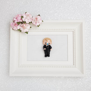 Sale Clay Charm Embellishment - Baby in suit - Crafty Mood