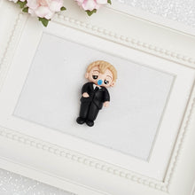 Load image into Gallery viewer, Sale Clay Charm Embellishment - Baby in suit - Crafty Mood