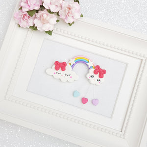 Clay Charm Embellishment - Rainbow Delight - Crafty Mood