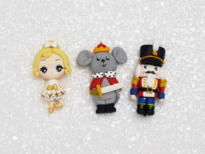 Handmade Clay Charm - New Big Eyes Nutcracker and Friend - Crafty Mood
