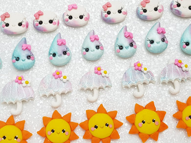Clay Charm Embellishment - NEW Weather B