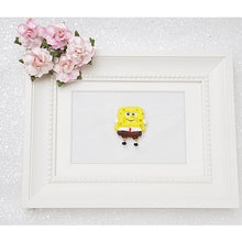 Load image into Gallery viewer, Clay Charm Embellishment - Yellow Sponge Big Eyes - Crafty Mood