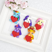 Clay Charm Embellishment - Pony Heart - Crafty Mood