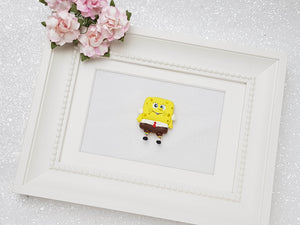 Clay Charm Embellishment - Yellow Sponge Big Eyes - Crafty Mood