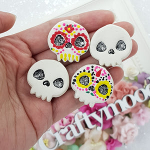Design Your Own Candy Skull - Handmade Flatback Clay Bow Centre
