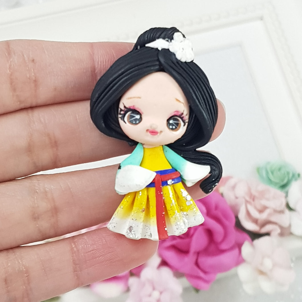 Asian Princess - D - Embellishment Clay Bow Centre - Crafty Mood
