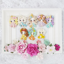 Load image into Gallery viewer, The Unicorn Princess - Handmade Flatback Clay Bow Centre - Crafty Mood