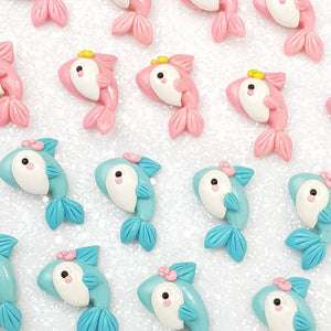 Cute Fish - Embellishment Clay Bow Centre - Crafty Mood