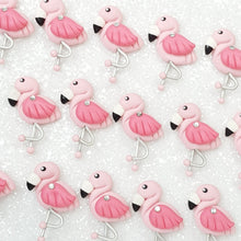 Load image into Gallery viewer, Fancy Flamingo - Embellishment Clay Bow Centre - Crafty Mood