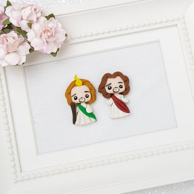 Jesus jude Mini Lux - Embellishment Clay Bow Centre - Crafty Mood