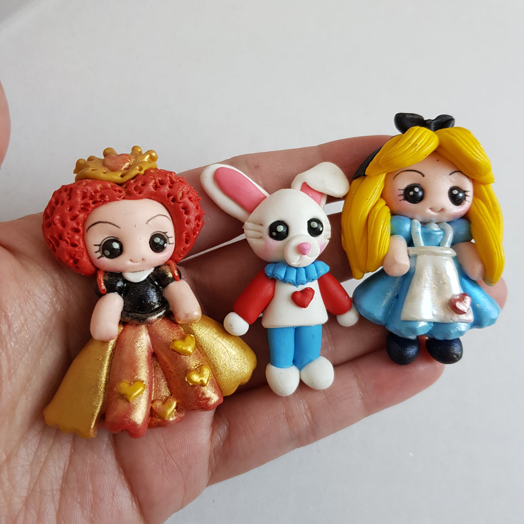 Clay Charm Embellishment - NEW WONDERLAND GIRL - Crafty Mood