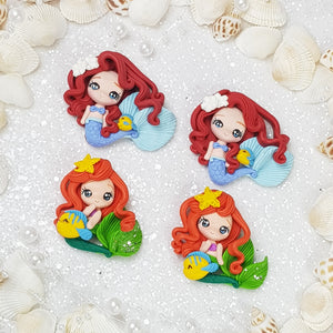 Pretty mermaid girl - Embellishment Clay Bow Centre - Crafty Mood