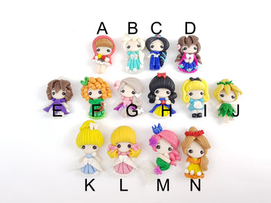 Clay Charm Embellishment Cute girl 4 cm SH - Crafty Mood