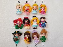 Load image into Gallery viewer, Sale clay Charm Embellishment - SHIMMER PRINCESS B - 5CM - Crafty Mood