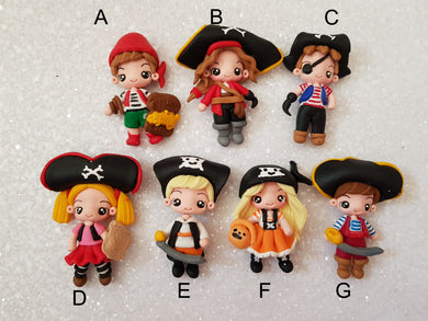 Handmade Flat Back Clay Embellishment PIRATE sale - Crafty Mood