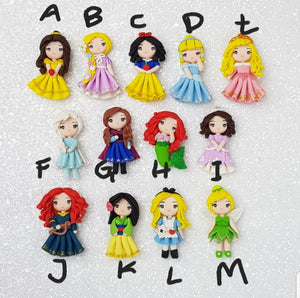 Clay Charm Embellishment - The little princesses - Crafty Mood