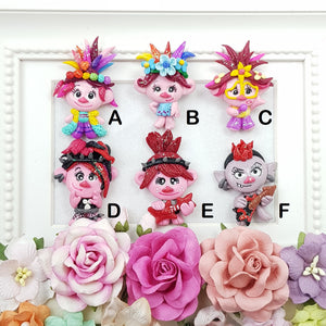 The Trolls Girls - Embellishment Clay Bow Centre