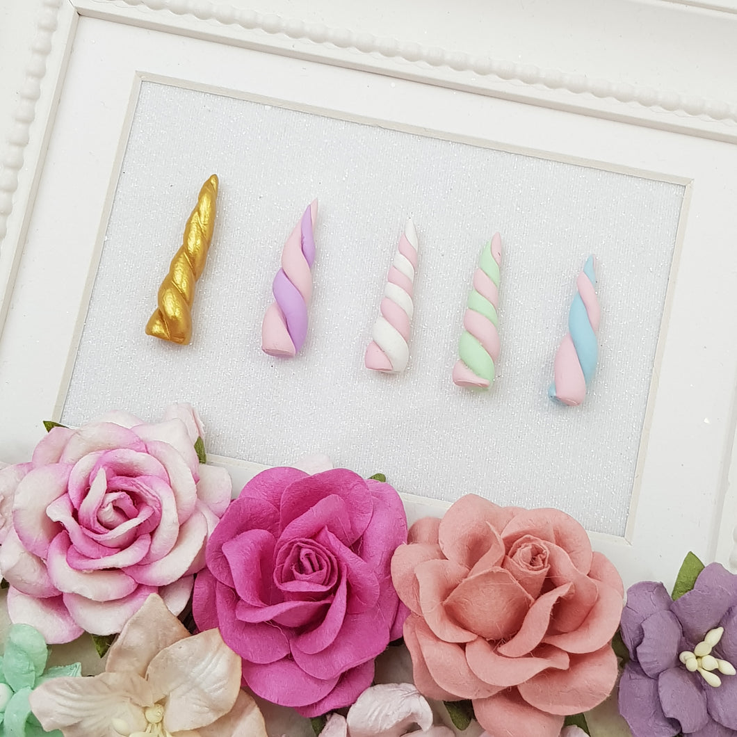 Clay Charm Embellishment - UNICORN HORN