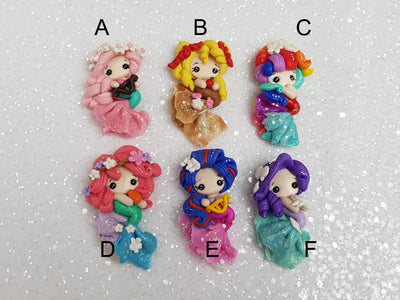 Clay Charm Embellishment - NEW LUXE MERMAID 5 CM TALL - Crafty Mood