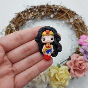 Adorable wonder girl - Embellishment Clay Bow Centre