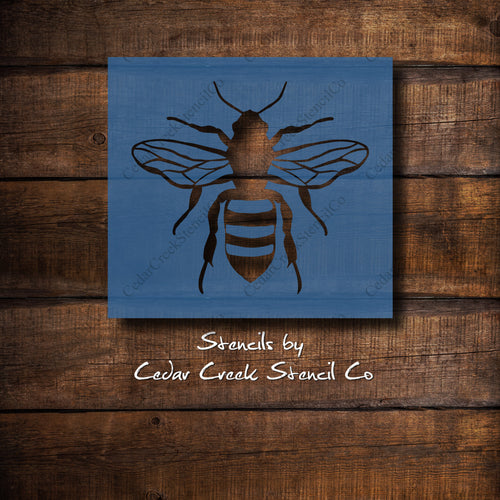 Bee - Reusable insect craft stencil