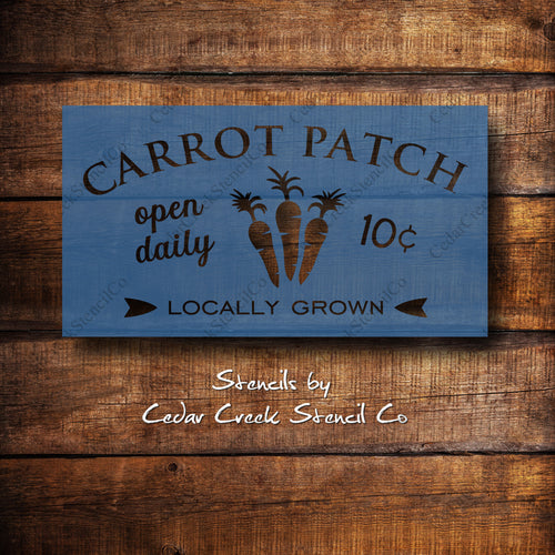 Carrot patch easter craft stencil